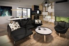 LIVING ROOM #1 (HOUSES ON GRASSLAND) | project: Studio Projektowe Jakub Gałęski (www.galeski.com.pl)