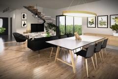 LIVING ROOM #2 (HOUSES ON GRASSLAND) | project: Studio Projektowe Jakub Gałęski (www.galeski.com.pl)