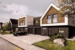 HOUSES ON GRASSLAND #1 | project: Studio Projektowe Jakub Gałęski  (www.galeski.com.pl)